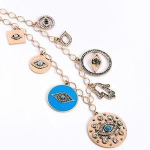 Hamsa Evil Eye Necklace NWT